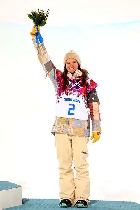 Bronze medalist Kelly Clark -- Snowboarding Women's Halfpipe