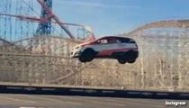 Rob Dyrdek -- Insane REVERSE Car Jump ... Breaks World Record