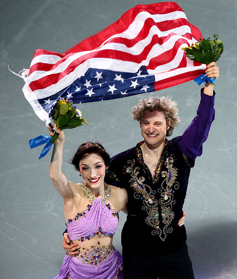 Gold medalists Meryl Davis and Charlie White -- Figure Skating Ice Dance