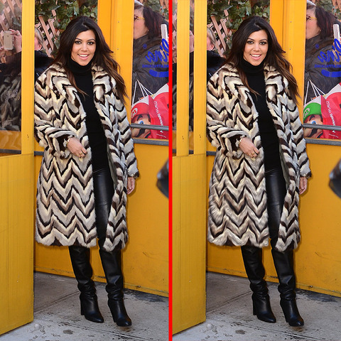 Can you spot the THREE differences in the Kourtney Kardashain picture?