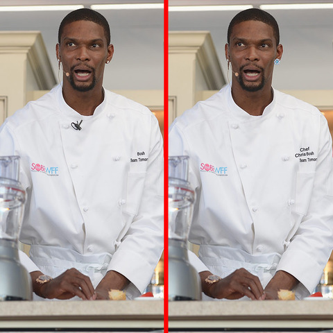Can you spot the THREE differences in the Chris Bosh picture?