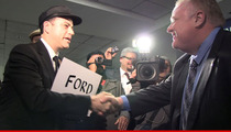 'Crack Mayor' Rob Ford -- Toronto is Safe ... Even Though I'm Partying at Oscars