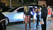Tyga -- Pulls Pack of Chicks with Sick Maybach (And Brags About It)