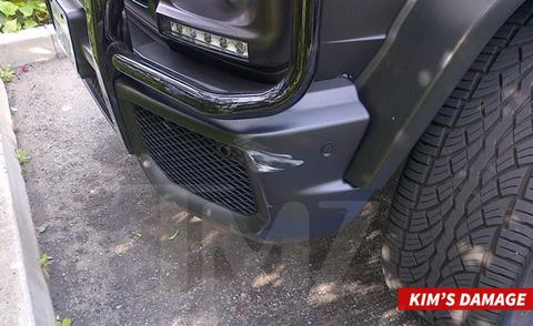 Kim Kardashian got into a car crash near the Beverly Hills Hotel in 2014.