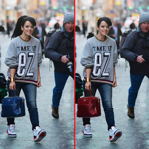 Can you spot the THREE differences in the Lily Allen picture?