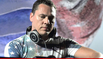 Popular DJ Tiesto -- I Knocked Myself Out ... While Walking to My Turntables
