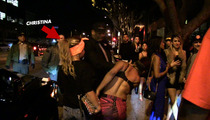 Christina Milian -- Bodyguard Swats Woman in the Face [VIDEO]