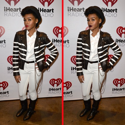 Can you spot the THREE differences in the Janelle Monae picture?