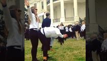 Team USA Olympians -- GIRL-ON-GIRL FREAK DANCING ... On White House Lawn
