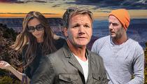 David Beckham and Gordon Ramsay -- British Invade Our Canyon
