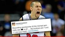 College Basketball Star, Marshall Henderson, BOYCOTTING ESPN ... Over Michael Sam Kiss