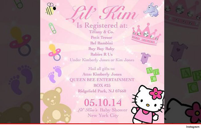 Lil Kims Baby Shower Invitation Heres Where Im Registered