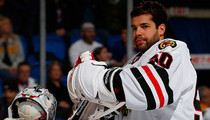 Chicago Blackhawks Star POLICE INVESTIGATION ... Goalie Allegedly Sprayed Heckler with Water Bottle