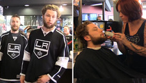 L.A. Kings Players -- MY BEARD STAYS ... After Last Minute Change of Heart