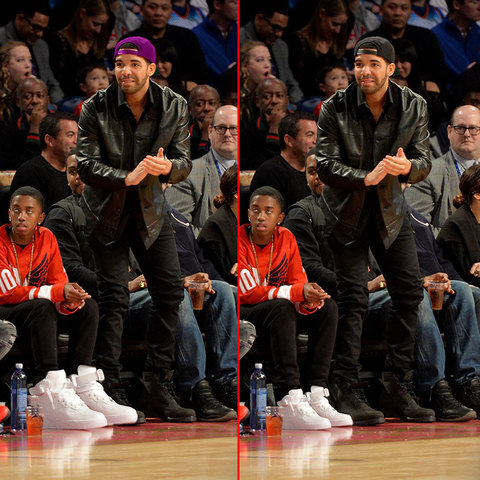 Can you spot the THREE differences in the Drake photos?