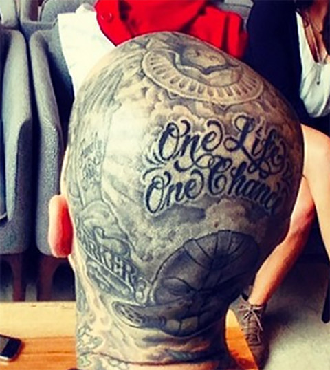 Guess whose head ink!