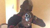 Soccer Star Mario Balotelli -- Takes Aim At 'Haters' ... WITH A SHOTGUN!!!