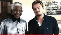 Leonardo DiCaprio -- My Autographed Mandela Pic was Stolen ... I Want it Back NOW