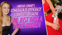 Lindsay Lohan -- Boobs Demand Comeback Award at Italian Film Festival