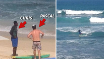Chris Webber -- First Surfing Lesson ... We're Gonna Need a Bigger Board!