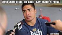 Manti Te'o -- Dragged Back Into Spotlight ...Thanks to Josh Shaw
