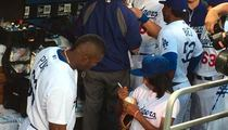 Yasiel Puig -- I Love My Mo'ne Davis Autograph ... It's Already In My Trophy Room