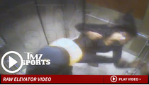 Ray Rice -- ELEVATOR KNOCKOUT ... Fiancee Takes Crushing Punch (Video)