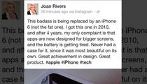 Joan Rivers -- Promotes iPhone 6 Feet Under