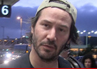 Keanu Reeves -- 2nd Home Intruder in 2 DAYS ... This One's Naked