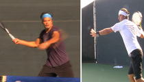 Timothy Olyphant -- Pretty Badass Tennis Showdown ... Vs. Gavin Rossdale [Video]