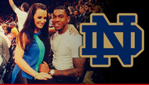 Notre Dame WR Justin Brent -- No Punishment for Dating Porn Star Lisa Ann