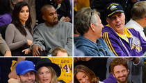 Kim and Kanye -- ALL ABOUT THE LAKERS ... Even Though They Suck