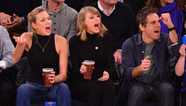 Taylor Swift -- BOOZIN' WITH LINGERIE MODEL ... At NY Knicks Game