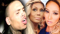 Chris Brown -- Calls 'The Real' Hosts 'Trout Mouth Ass Bitch' and 'Muppet Face Ass'