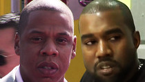 Jay Z, Kanye West Sued by Street Peddler ... You Stole My Song Outside Your Hotel!