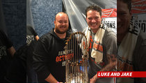 SF Giants Star Jake Peavy -- Turning Cable Car ... Into Mobile Bar!!!!