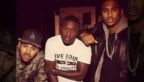 Andre Berto -- Carnival Ridin' With Trey Songz & Chris Brown ... At INSANE Birthday Party