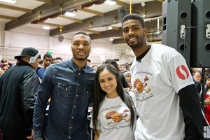 Dorrell Wright & Damien Lillard Giving Back