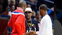 Floyd Mayweather -- Attends Clippers Game After Witnessing Murder/Suicide