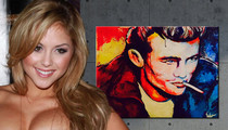 UFC's Brittney Palmer -- James Dean Painting ... Sells for $3,000
