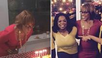 Gayle King -- Surprised by Oprah Winfrey ... Sooo Much Cake to Camera