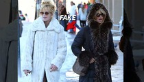 Melanie Griffith -- Swears to Fake It ... FUR-ever