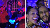 Alicia Keys -- Kid and Playing Around ... With 'House Party' Cast