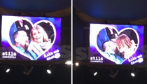 Cameron Diaz & Benji -- Kiss Cam Makeout Session ... At Lakers Game
