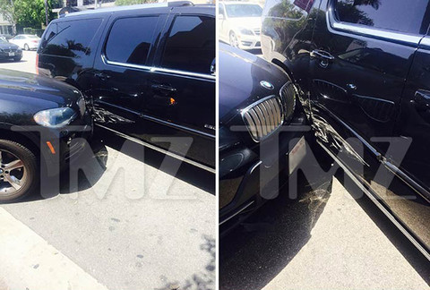 Justin Bieber was in a car accident after a car driven by a paparazzo was chasing the Escalade in which Bieber was a passenger
