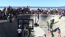 Harlem Globetrotters -- BALLIN' OUT ... In Famous Venice Skate Park