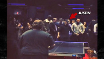 Justin Bieber -- SMOKES Rapper Action Bronson at Ping Pong