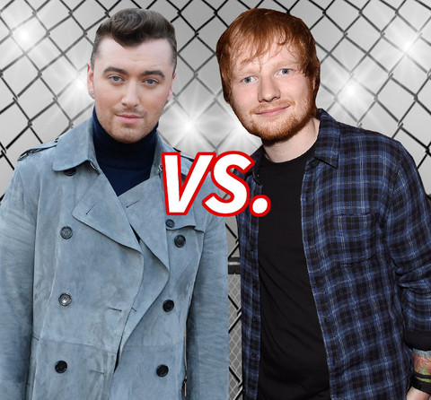 Who's got the better vocals? Sam Smith (22) vs. Ed Sheeran (24)