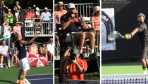 Kevin Hart -- Drops a Deuce on Justin Bieber ... In Charity Tennis Match