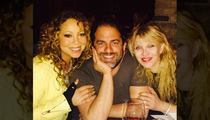 Mariah Carey & Courtney Love -- Crazy Dinner Duo ... with a Side of Brett Ratner (PHOTO)
